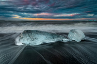 Ice, Sand and Sea at Sunrise in Iceland  #Best1507